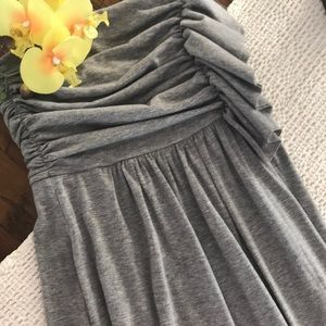 Strapless Gray Dress